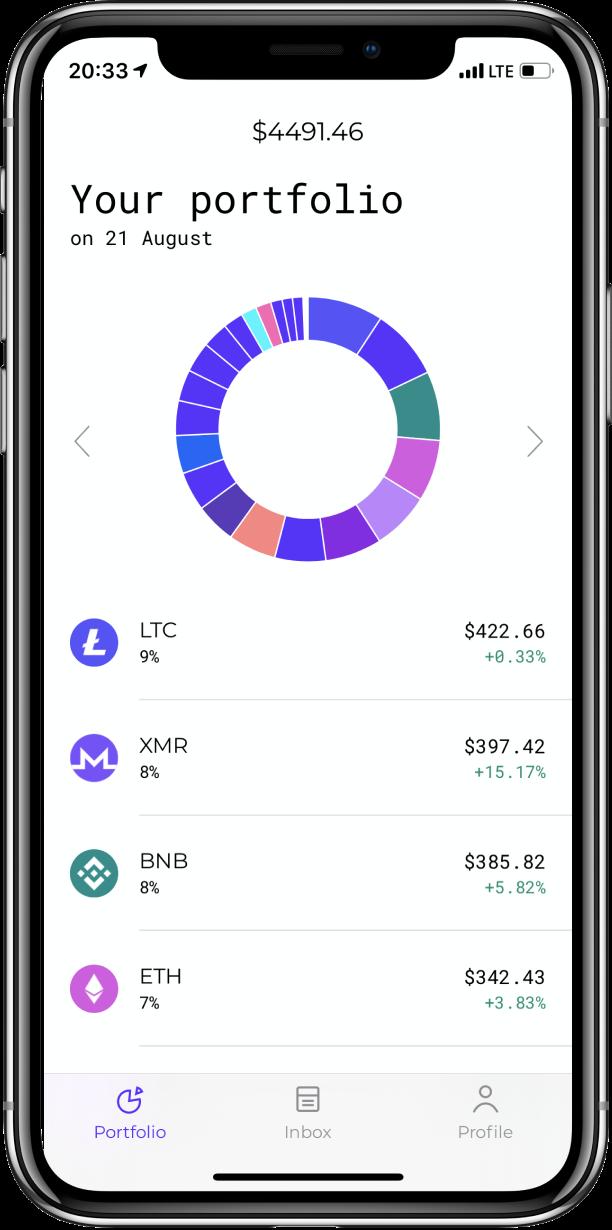 Stoic app — portfolio snapshot