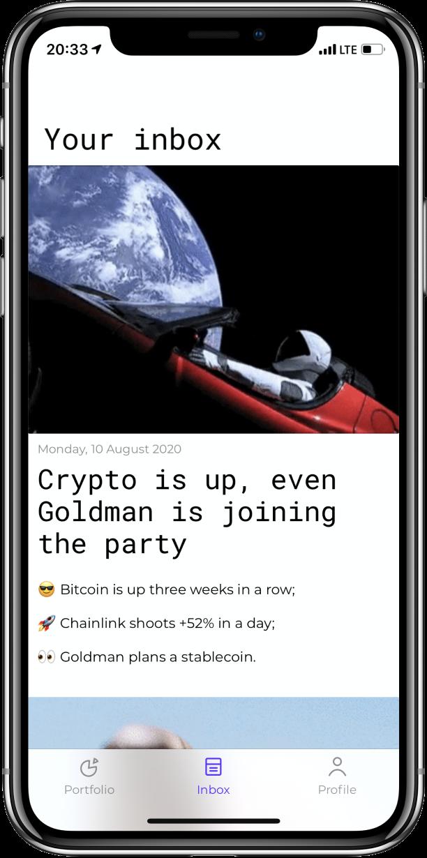Stoic app —inbox