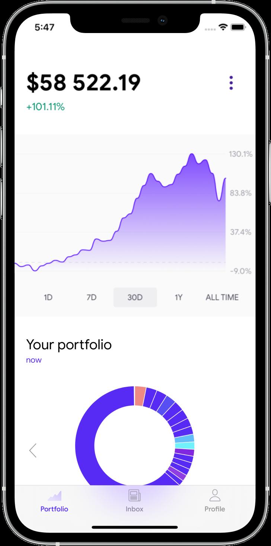 Stoic app — performance chart